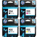 HP 934 BK + 935 C/M/Y Original Ink Cartridges Combo Set