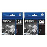 Epson 125 T125120 Original Black Ink Cartridge Twin Pack