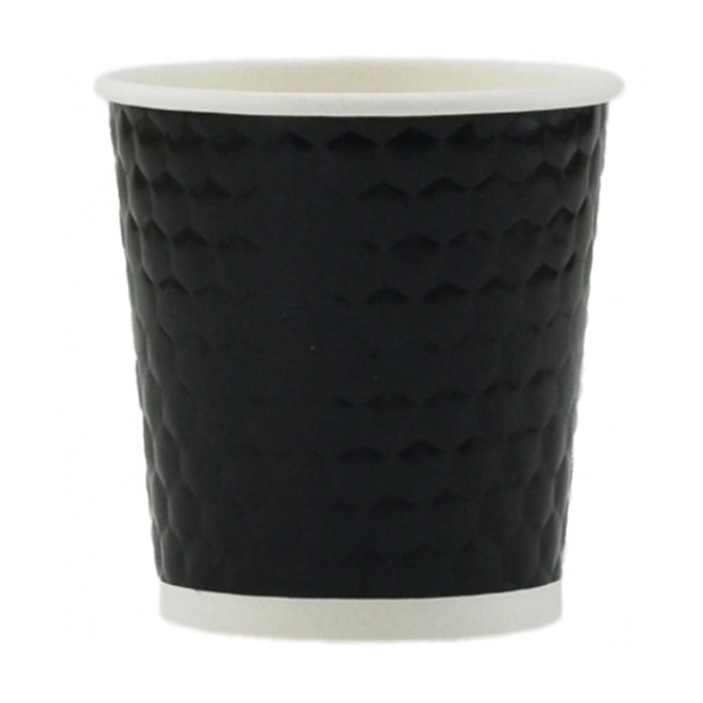 Tannex Diamond Double Wall Paper Cup, Black P-DB11104