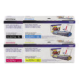 Brother TN221 Original Toner Cartridge Combo Set BK/C/M/Y
