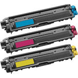 Brother TN225 Compatible Toner Cartridge Combo C/M/Y - Economical Box