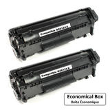 Remanufactured HP 12X Q2612XX Black Toner Cartridge Extra High Yield - Economical Box