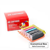 Canon PGI250XL CLI251XL Compatible Ink Cartridge Combo BK/BK/C/M/Y - Economical Box