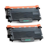 Brother TN850 Compatible Black Toner Cartridge High Yield Version of TN820 2 Pack - Economical Box