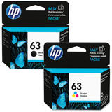 HP 63 F6U62AN F6U61AN Original Black and Tri-Color Ink Cartridge Combo
