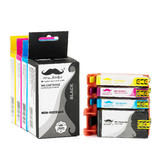 Remanufactured HP 902XL Ink Cartridge Combo High Yield BK/C/M/Y - Moustache®