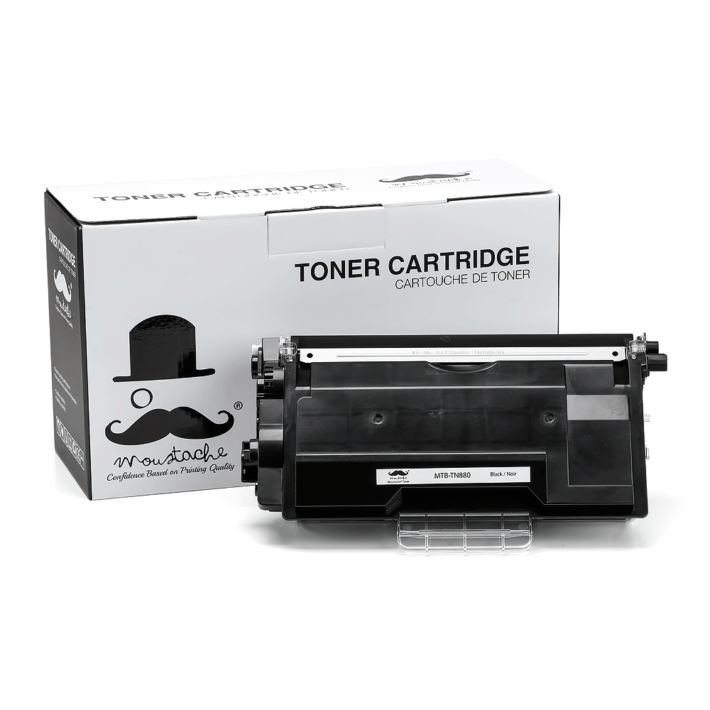 Brother TN880 Compatible Black Toner Cartridge Extra High Yield - Moustache®