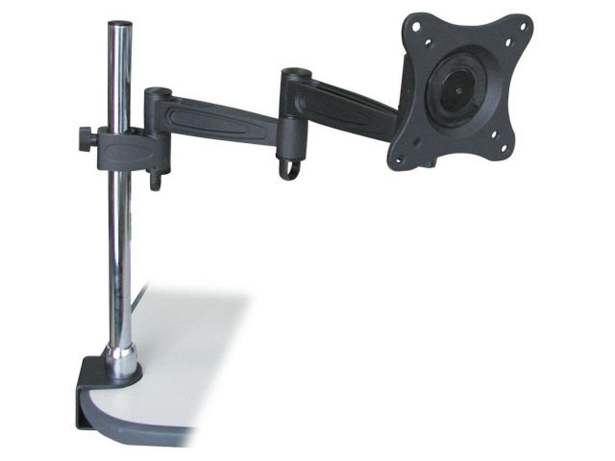 Adjustable Tilting Desk Mount Bracket for LCD LED (Max 33Lbs, 10~23inch) – Black