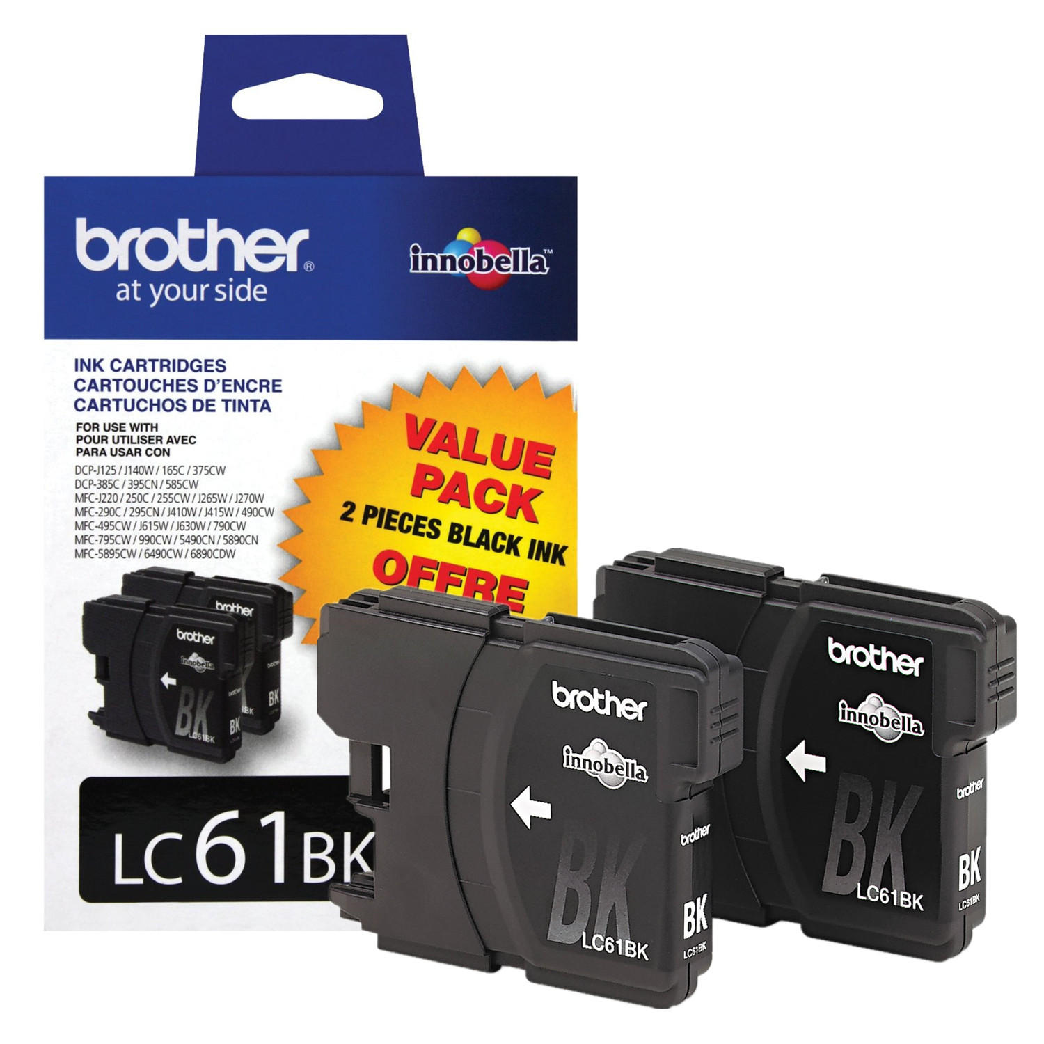 Brother LC612PKS Original Black Ink Cartridge Twin Pack
