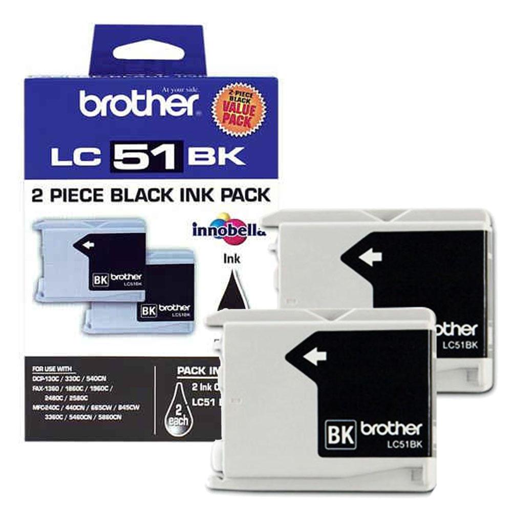 Brother LC512PKS Original Black Ink Cartridge Twin Pack