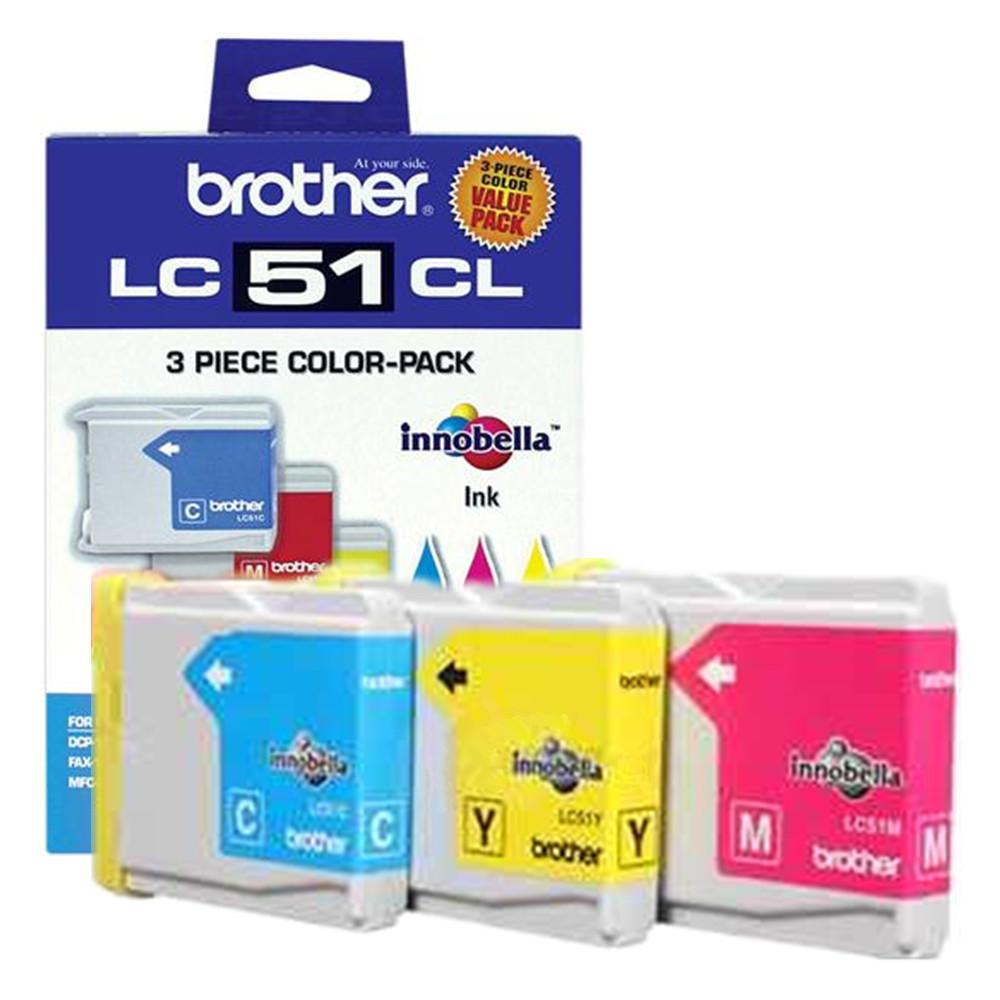 Brother LC513PKS Original Tricolor Ink Cartridge Combo C/M/Y
