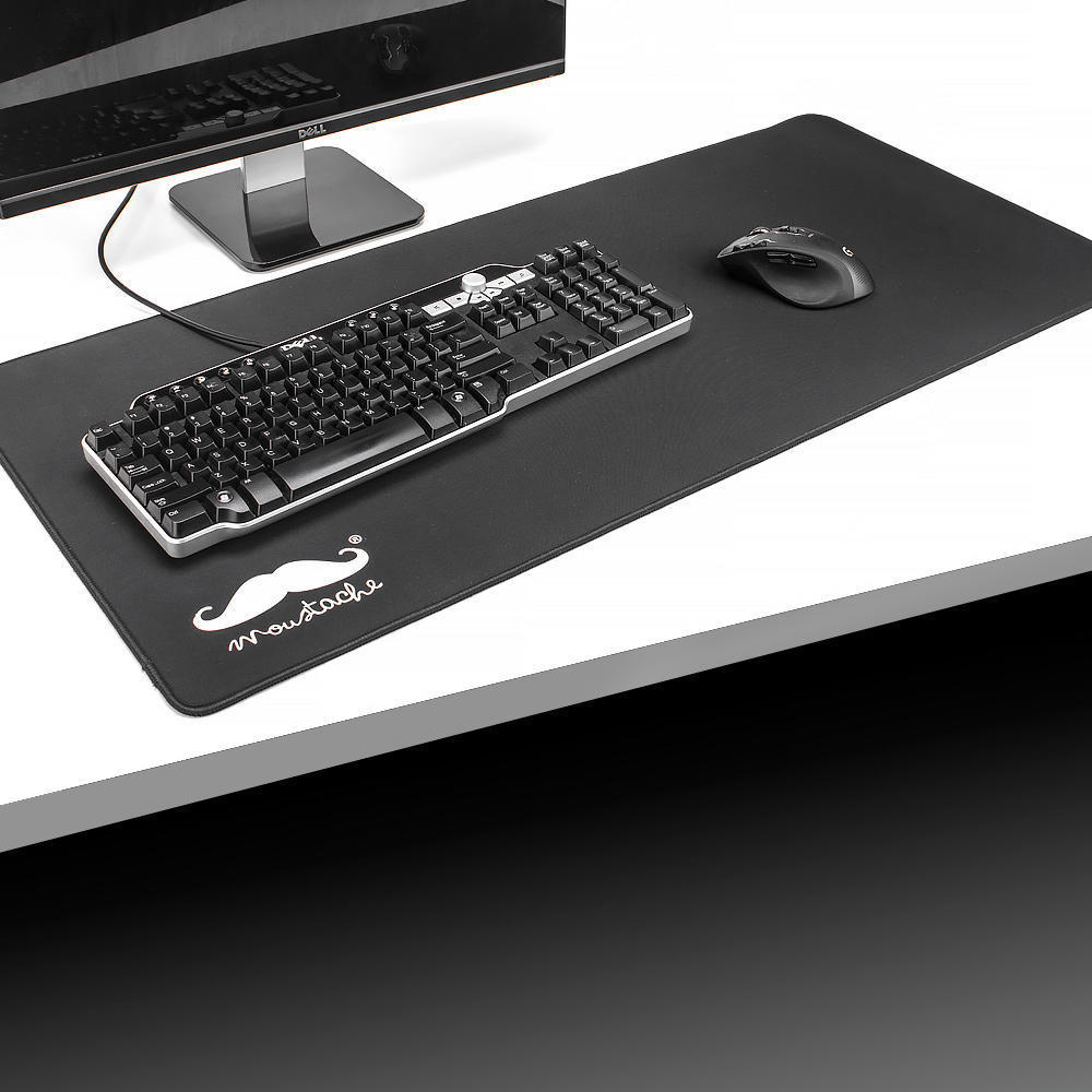 Gaming Mouse Pad, Extended Large Size, Non-Slip Anti-Fray Cloth Surface, 900mm*400mm - Moustache®