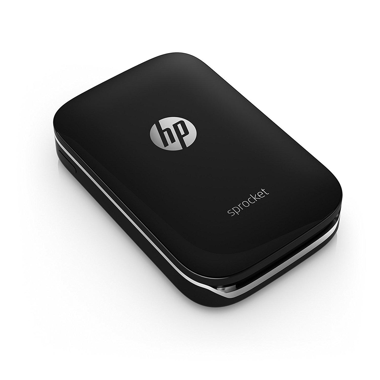 HP X7N08A Sprocket Portable Photo Printer - Black