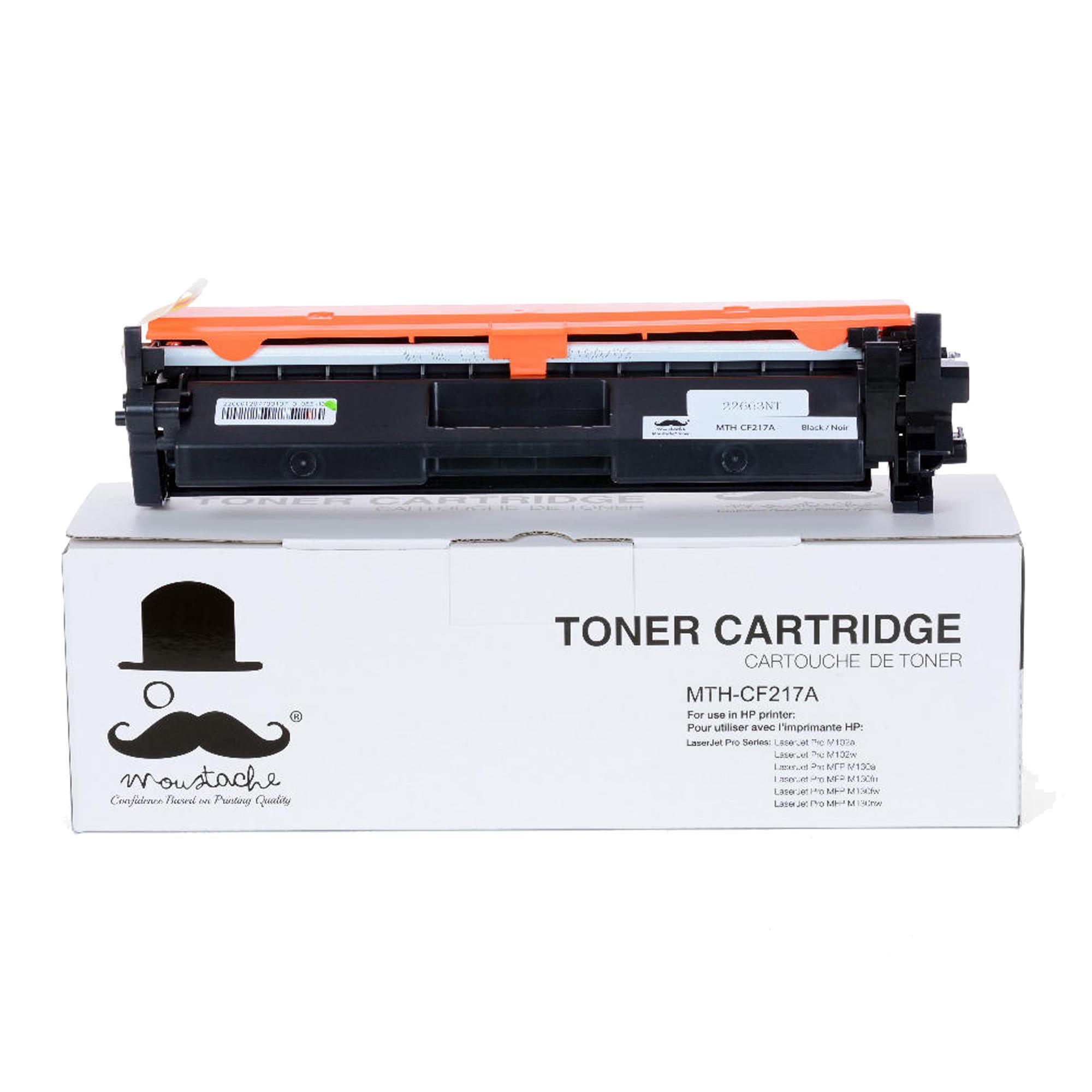 Compatible HP 17A CF217A Black Toner Cartridge - With Chip - Moustache®