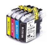 Brother LC203 Compatible Ink Cartridge Combo High Yield BK/C/M/Y - Economical Box