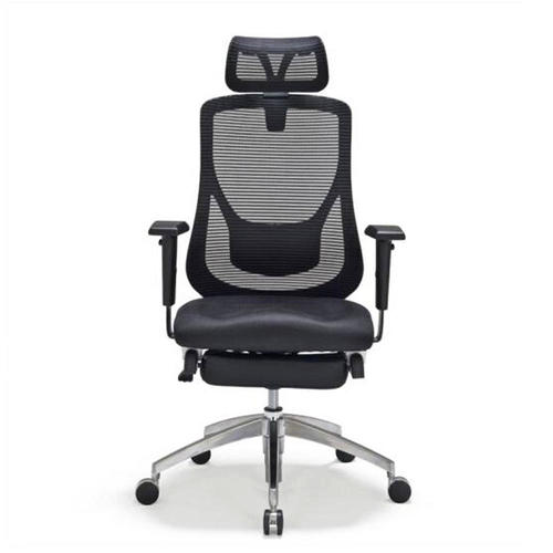 Moustache 174 Adjustable Mesh Office Chair With Footrest Black