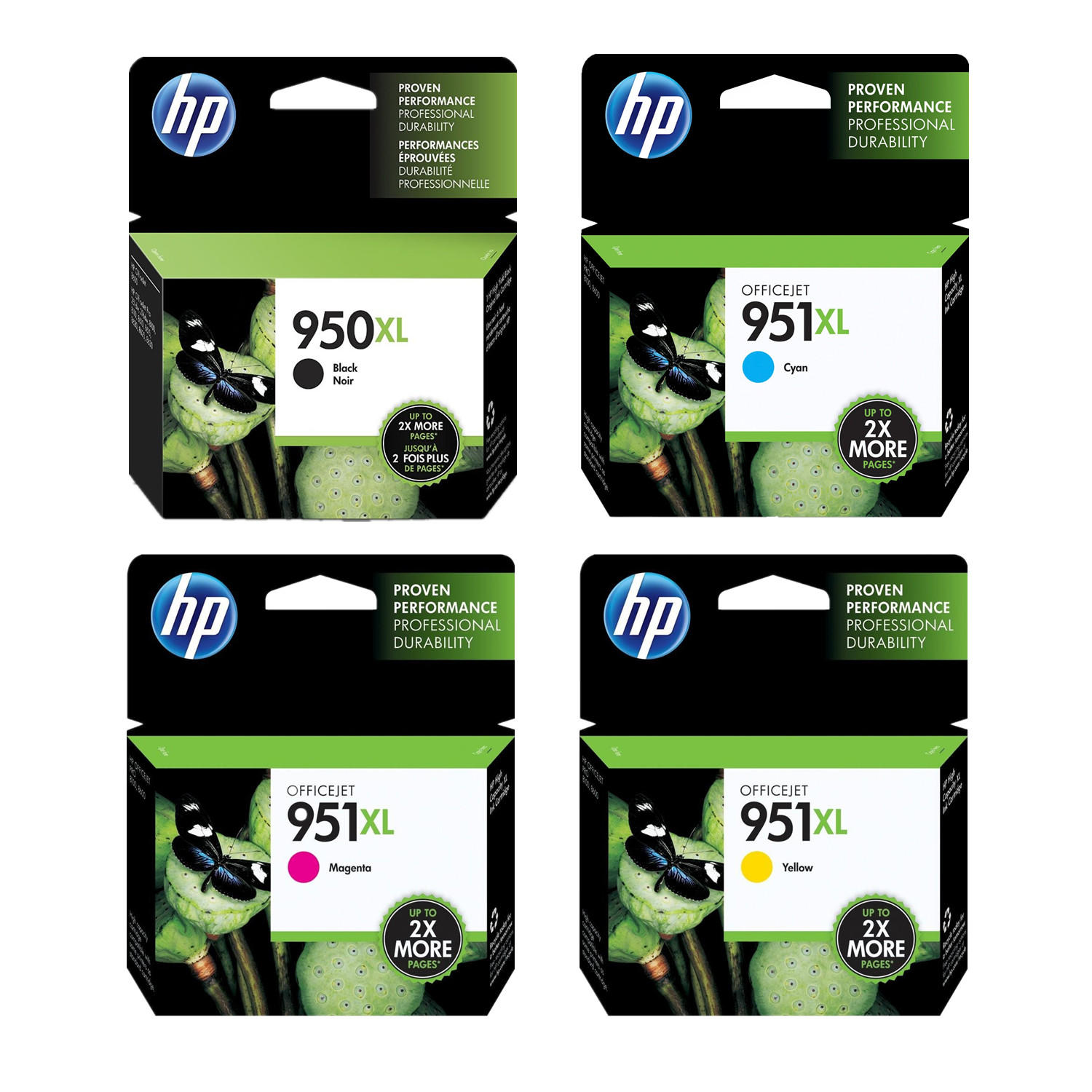 hp 950xl 951xl original ink cartridge combo high yield bk c m y at inkjetsuperstore. Black Bedroom Furniture Sets. Home Design Ideas