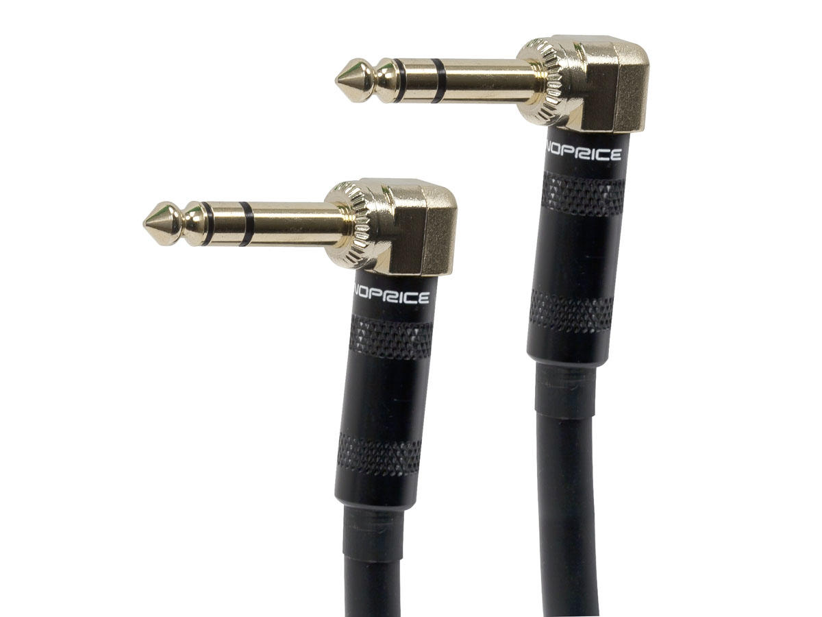 Premier Series 1|4inch (TRS or Stereo) M|M 16AWG Right Angle Cable (Gold Plated) – Monoprice