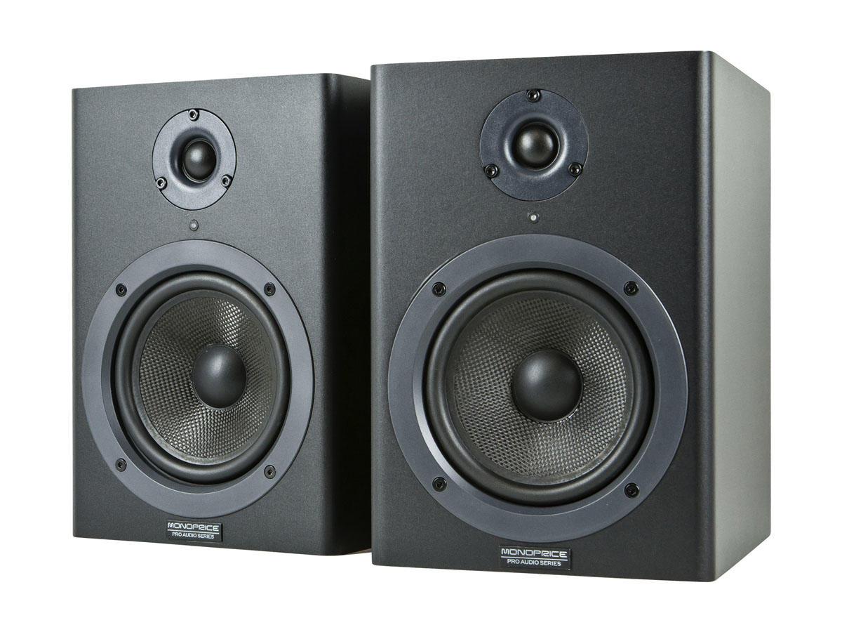 5-inch Powered Studio Multimedia Monitor Speakers (pair) – Monoprice