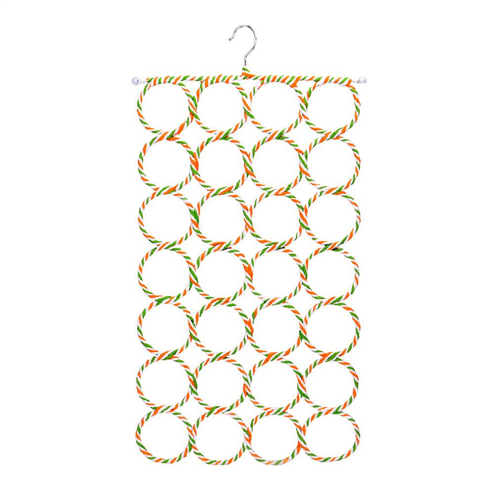 28 Loop Scarf & Tie Hanger, Closet Organizer (Random Colors)