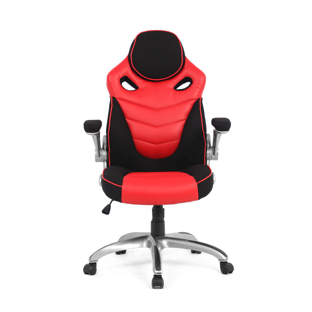 Racing Car Gaming Chair, Computer Desk Chair, Black and Red - Moustache®