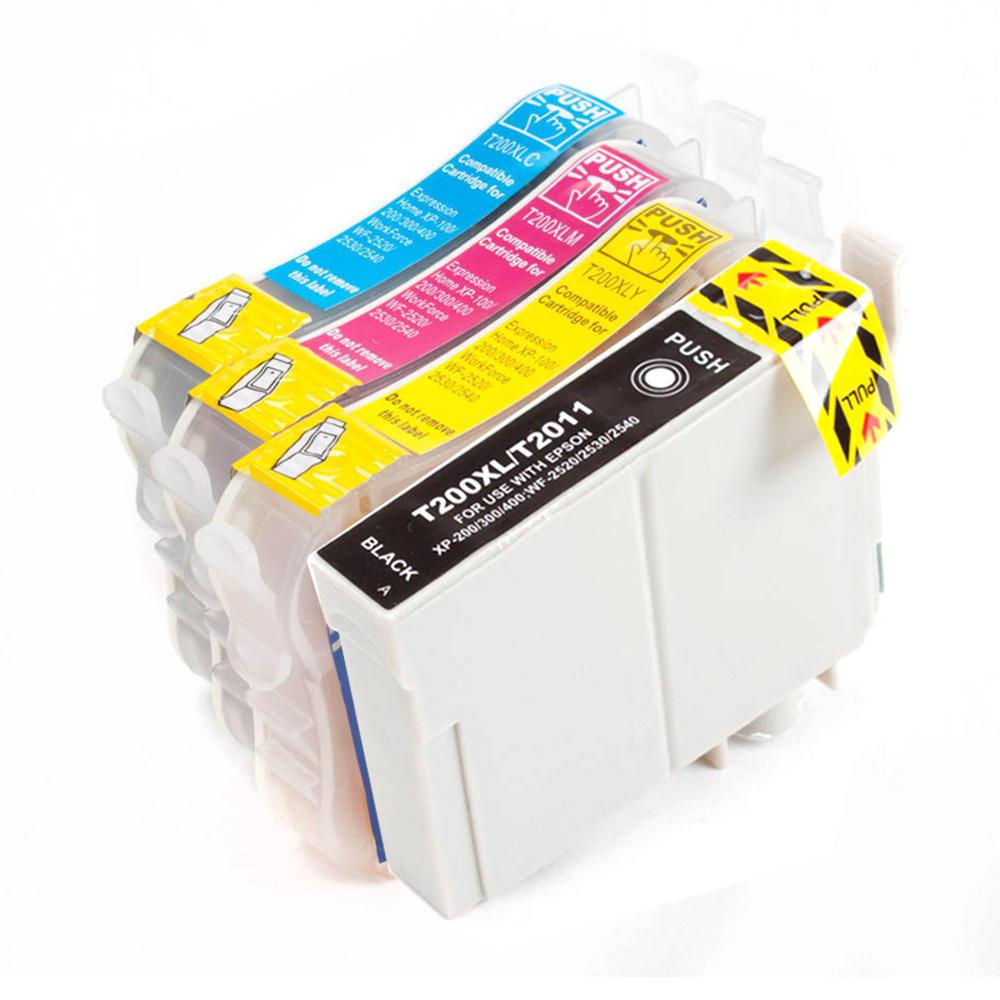Epson T200XL Compatible Ink Cartridge Combo High Yield BK|C|M|Y – Economical Box