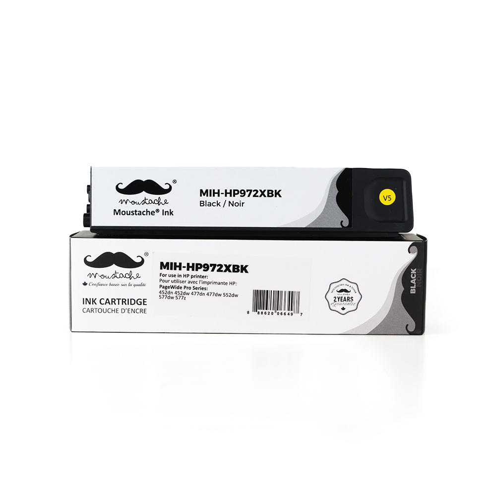 Remanufactured HP 972X F6T84AN Black PageWide Ink Cartridge High Yield - Moustache®