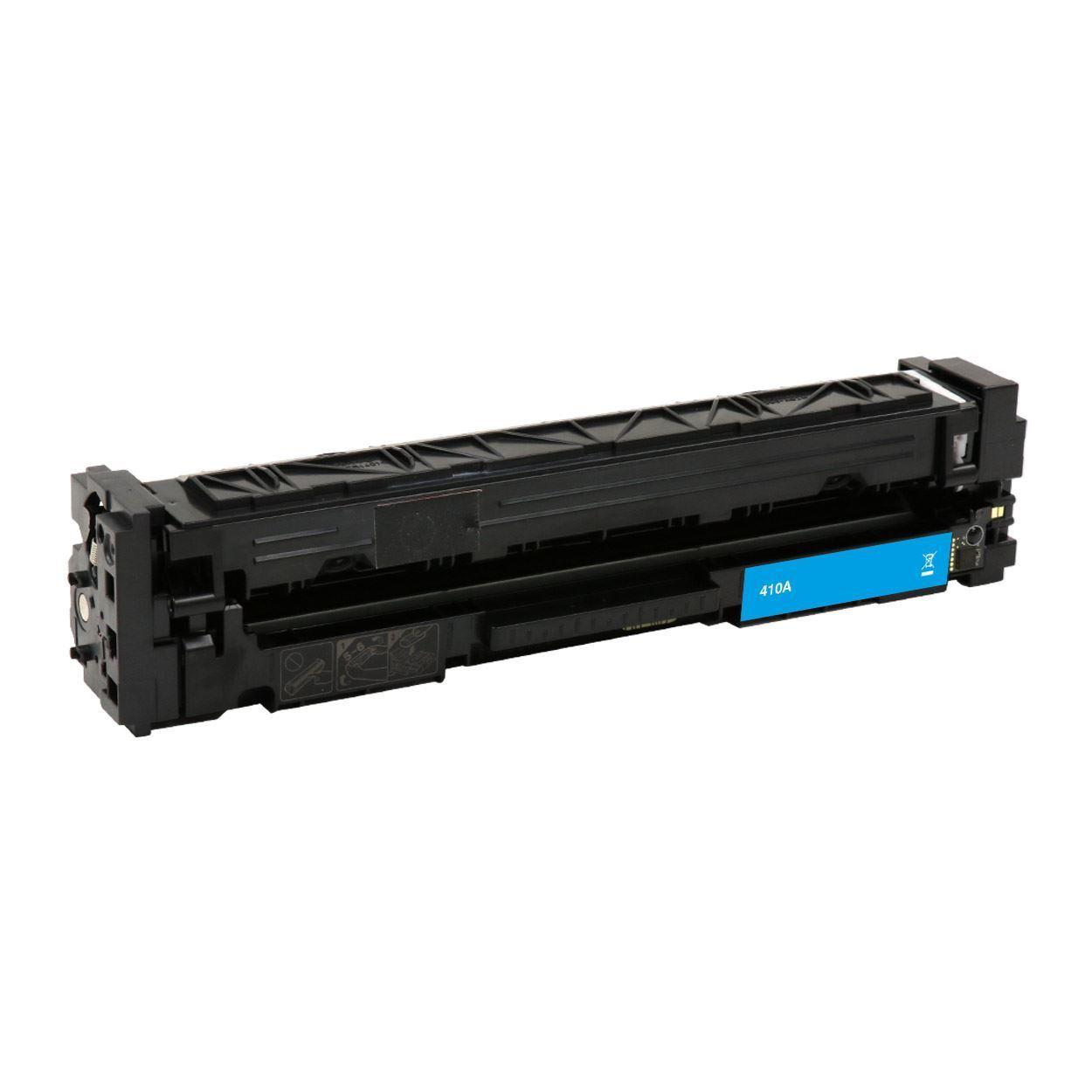Compatible HP 410A CF411A Cyan Toner Cartridge - Economical Box