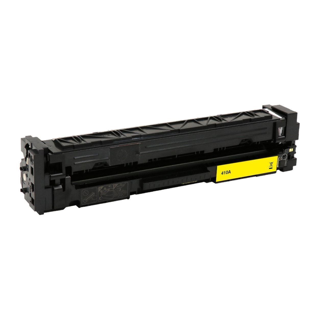 Compatible HP 410A CF412A Yellow Toner Cartridge - Economical Box