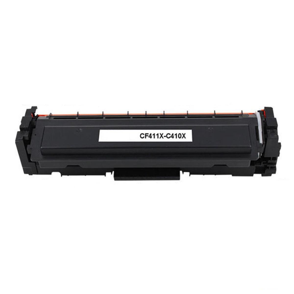 Compatible HP 410X CF411X Cyan Toner Cartridge High Yield- Economical Box