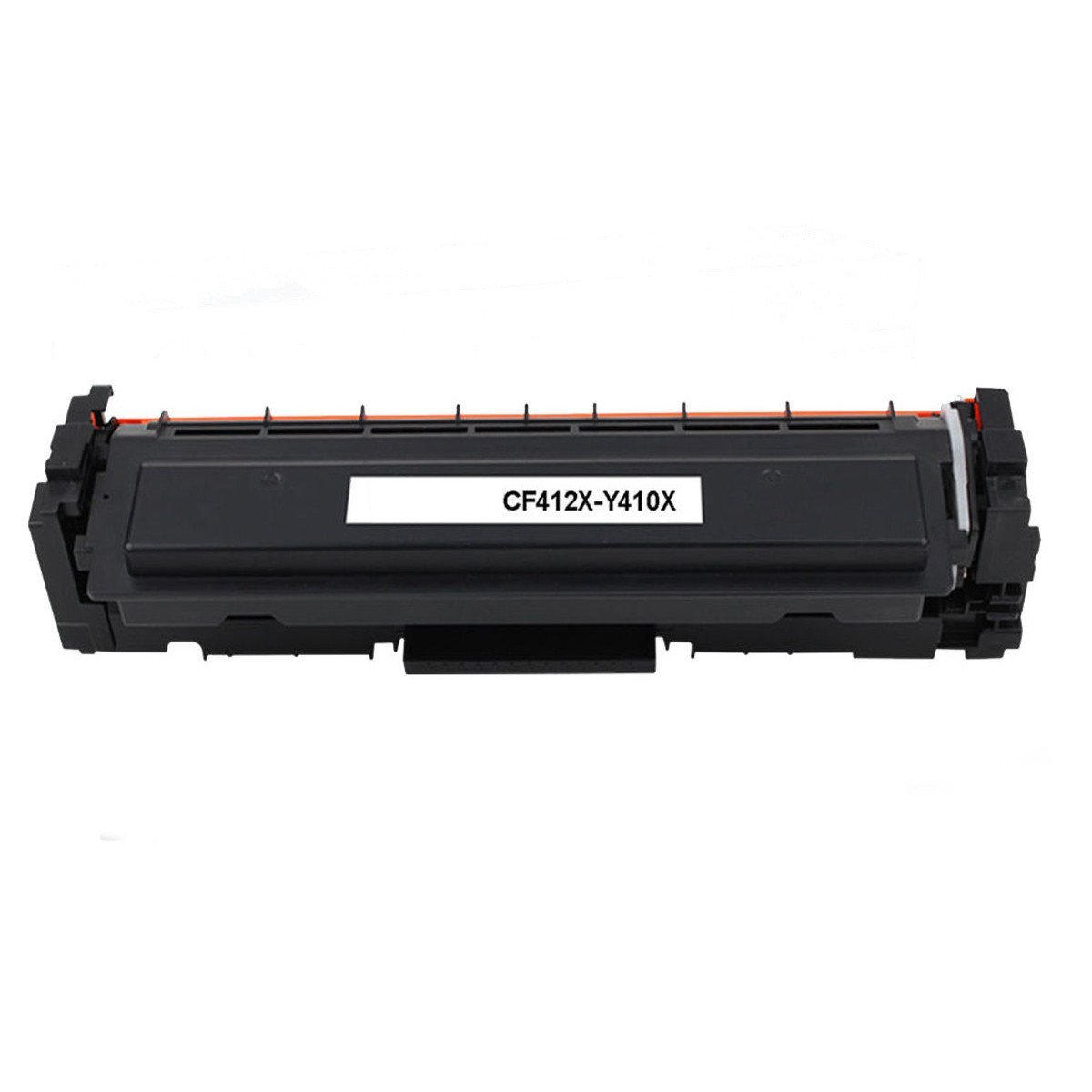 Compatible HP 410X CF412X Yellow Toner Cartridge High Yield- Economical Box