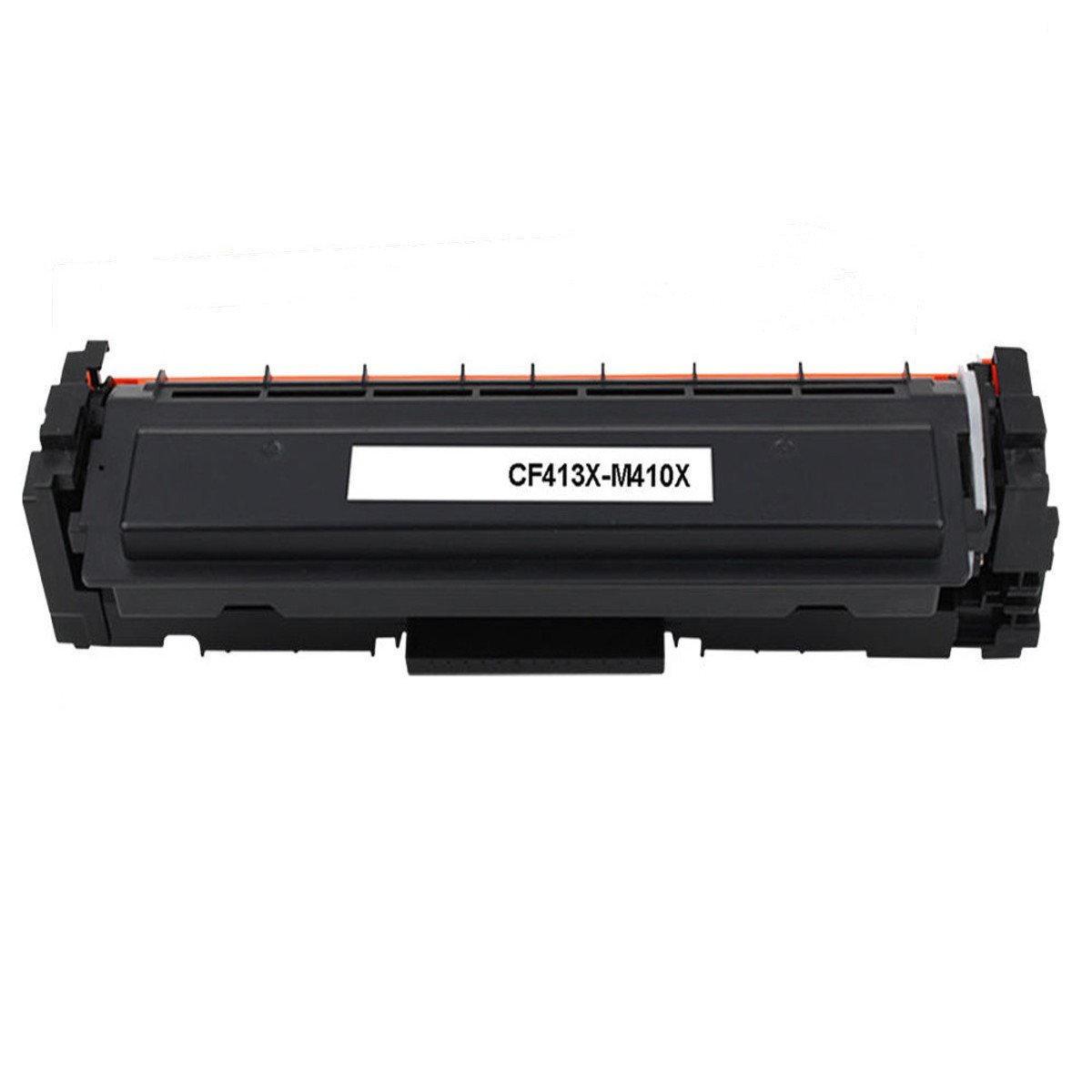 Compatible HP 410X CF413X Magenta Toner Cartridge High Yield- Economical Box