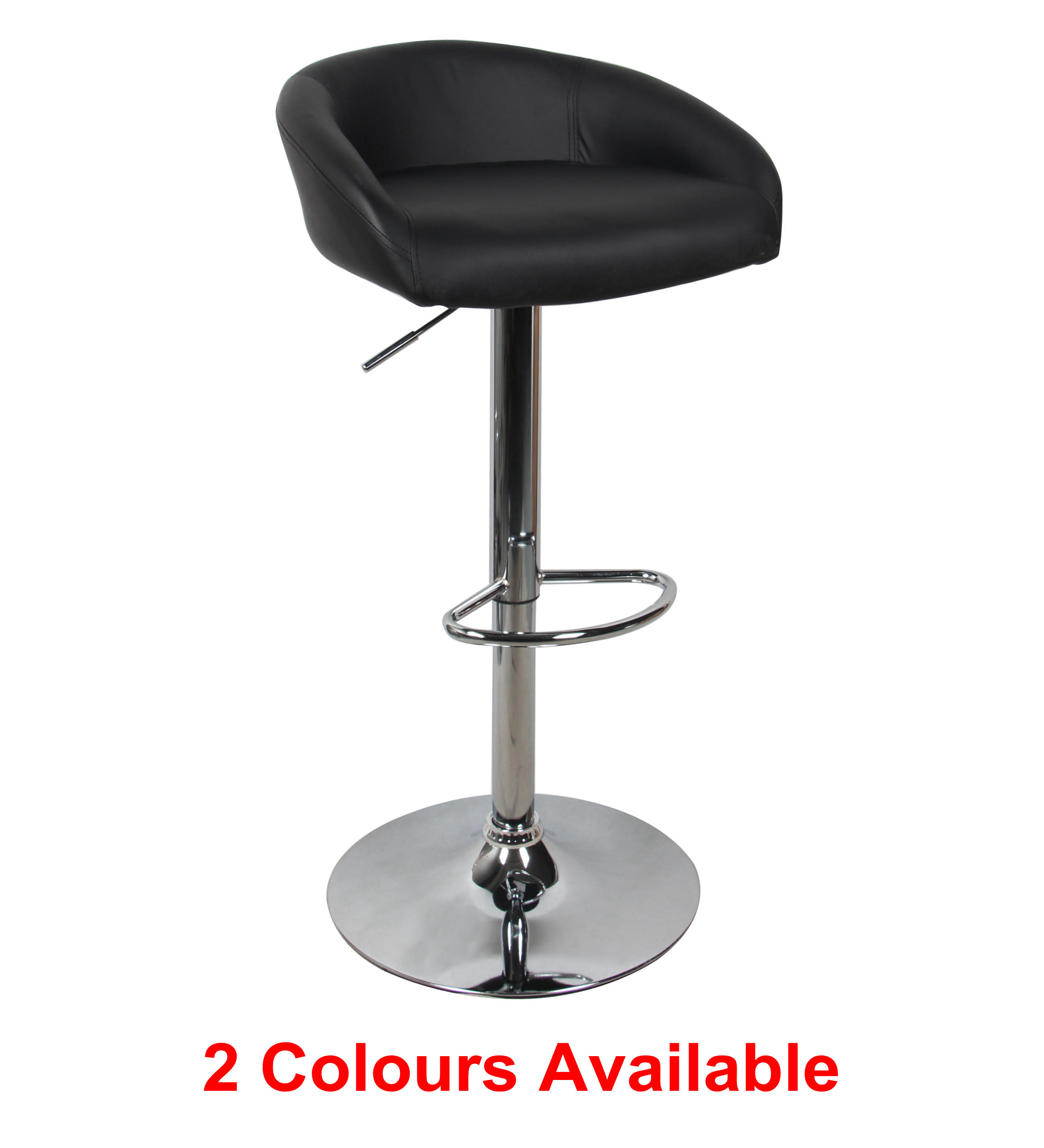 Adjustable Height Swivel Bar Stool Contemporary Style Moustache