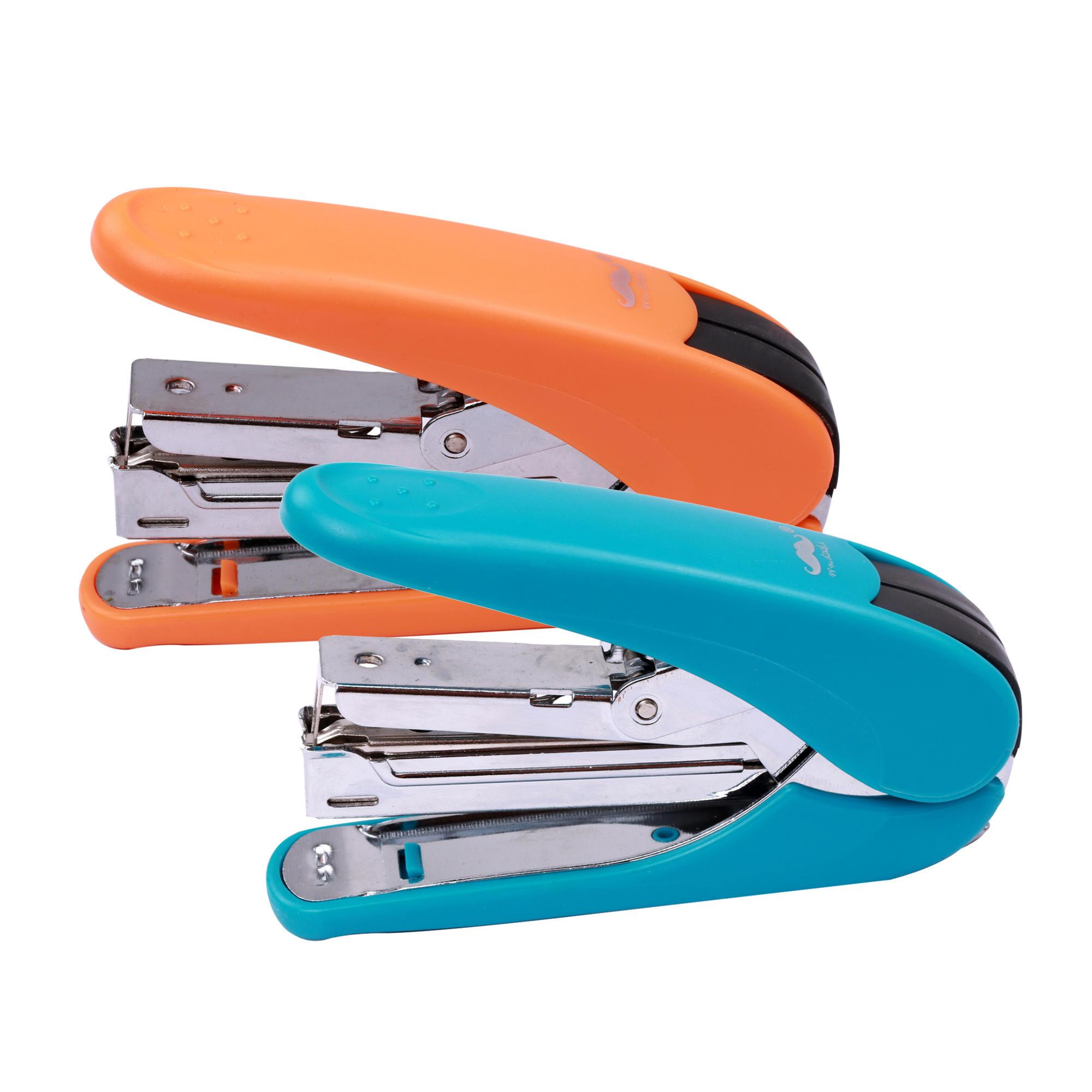 Labour-Saving Plastic Stapler, Blue / Orange (Random Colour) - Moustache®