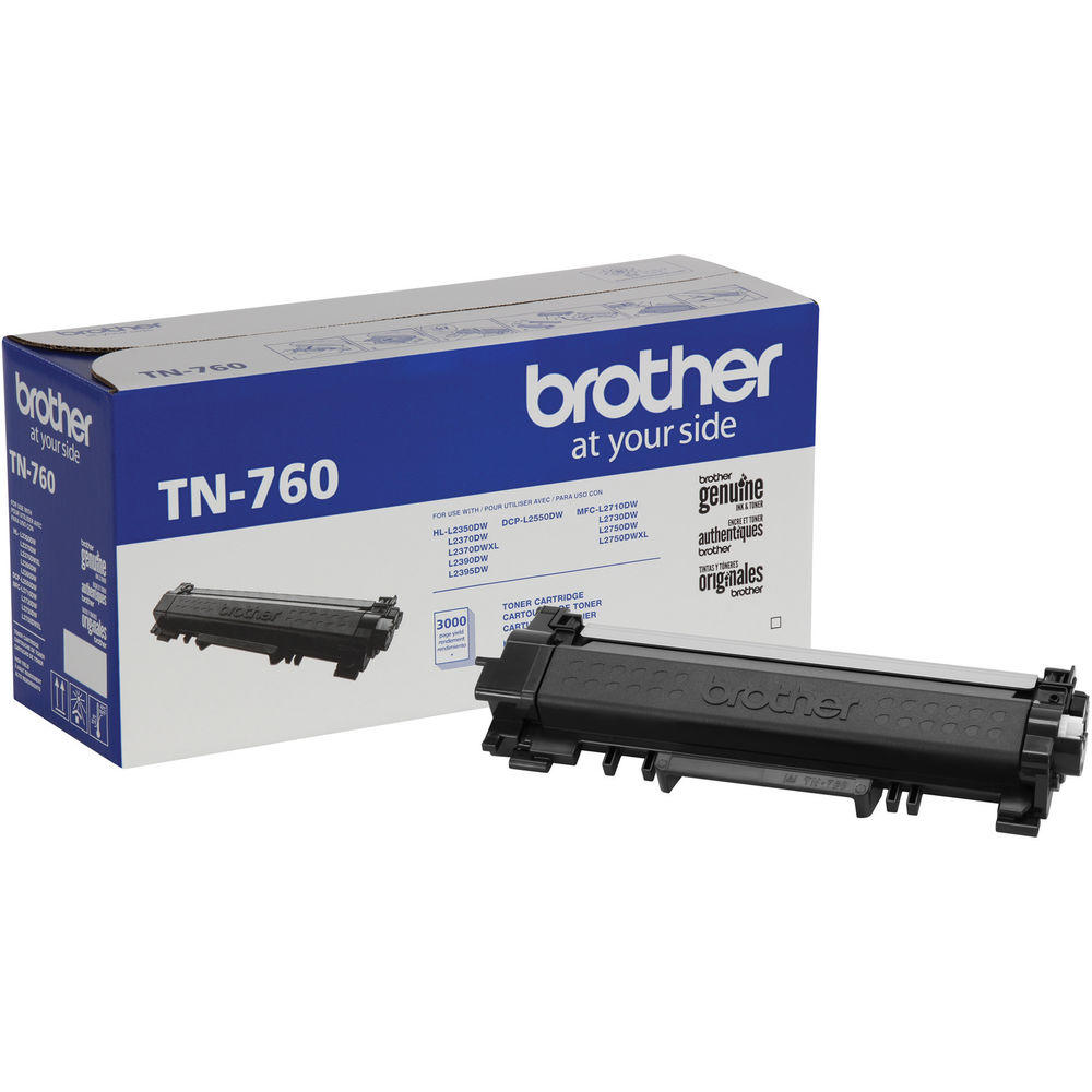 Brother TN-760 Original Black Toner Cartridge High Yield Version of TN730