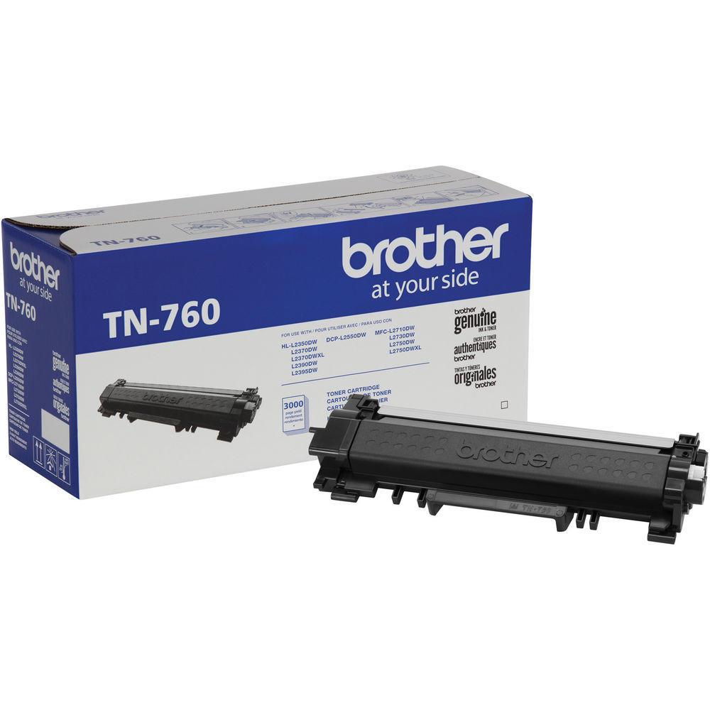 Brother TN760 (TN-760) Original Black Toner Cartridge High Yield Version of TN730