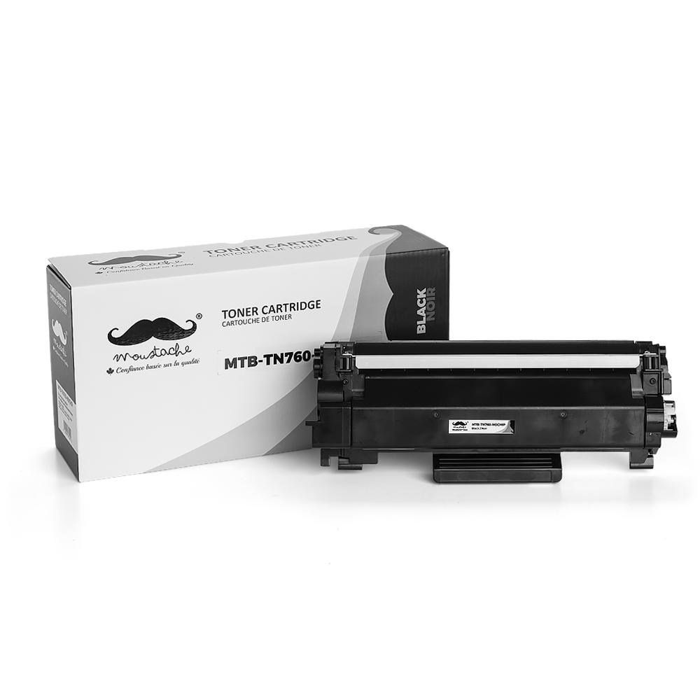 Brother TN760 Compatible Black Toner Cartridge High Yield - No Chip - Moustache®