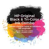 HP 64 X4D92AN Original Ink Cartridge Combo Black and Tri-color