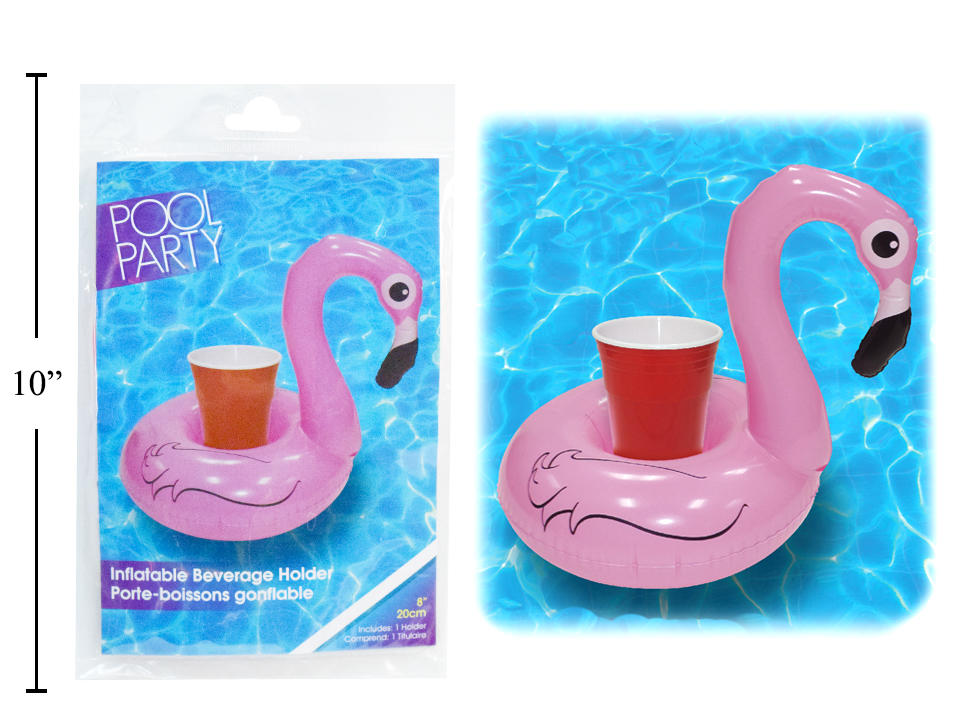 Pool Party 6 Inflatable Flamingo Beverage Holder