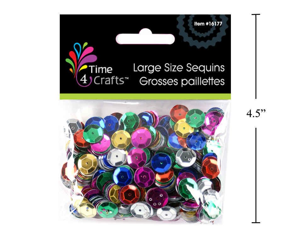 Time 4 Crafts, 25g Sequins, Large Size, pbh