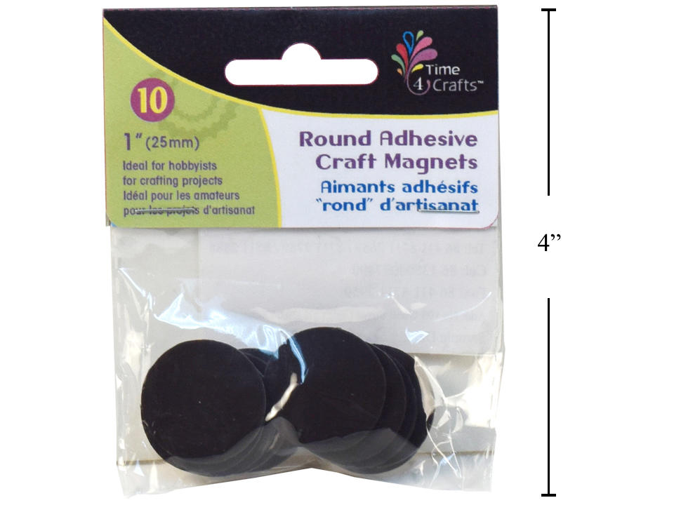 Time 4 Crafts, 10-pc Round Adhesive Magnets, 25mm Dia