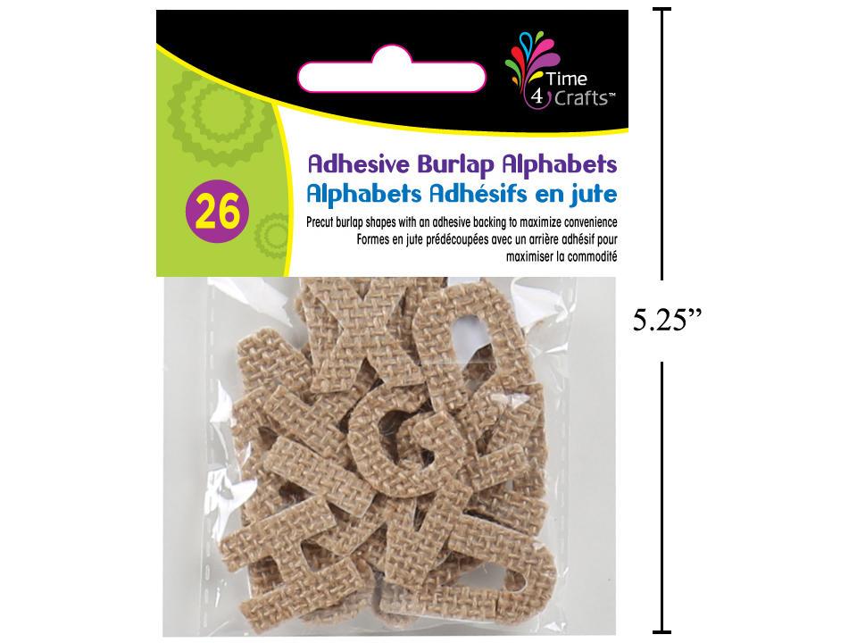 Time 4 Crafts, 26-pc Adhesive Burlap Alphabets