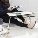 "Adjustable Portable Standing Desk Laptop Bed Table for 17"" Laptop - PrimeCables®"