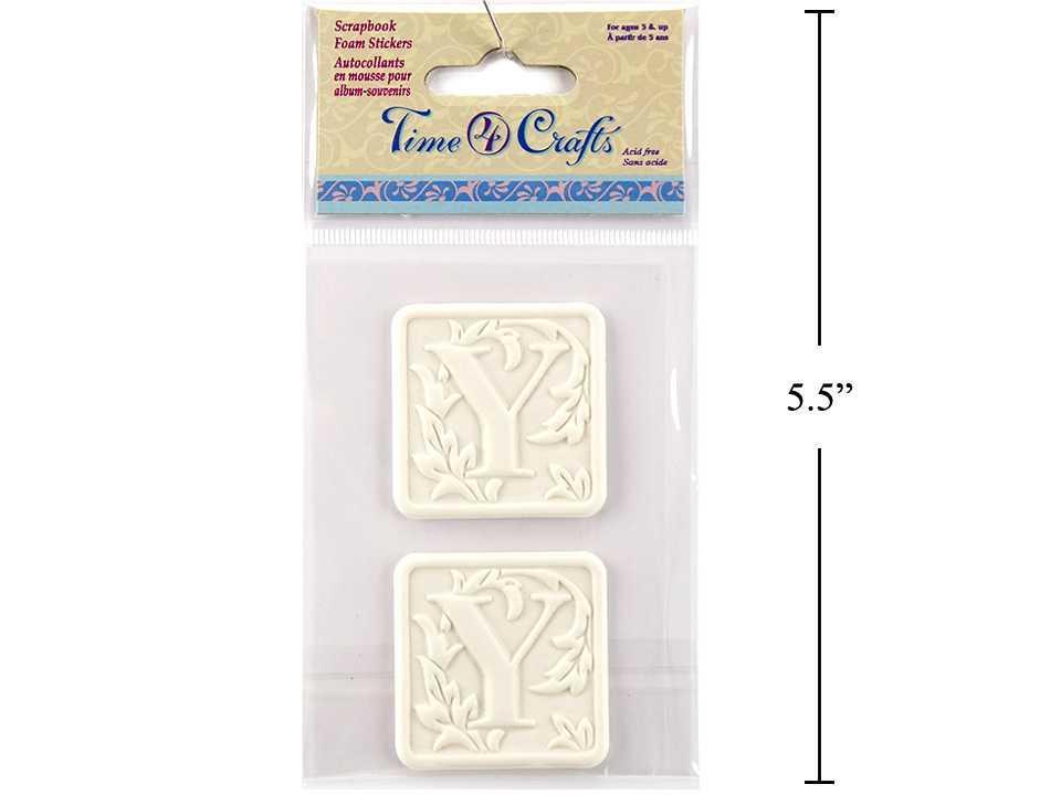Time 4 Crafts, 2-pc Foam Sticker, Y, pbh