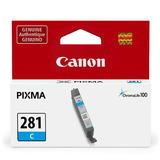 Canon CLI-281 2088C001 Original Cyan Ink Cartridge