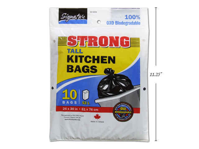 SiG.Kit 10-pc 24×30 Tall Kitchen Bags, Black