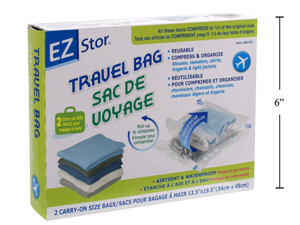 EZ-Stor 2-pc Carry-on Travel Bag, 13.5 x 19.5
