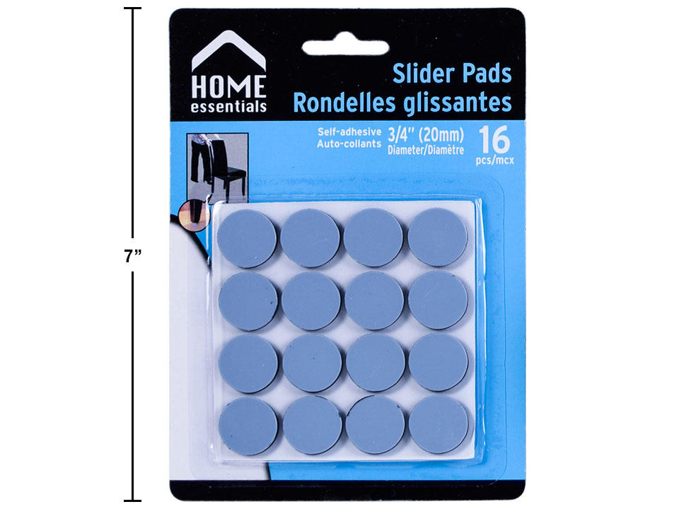 H.E. 16-pc 3|4 Dia Slider Pads, b|c