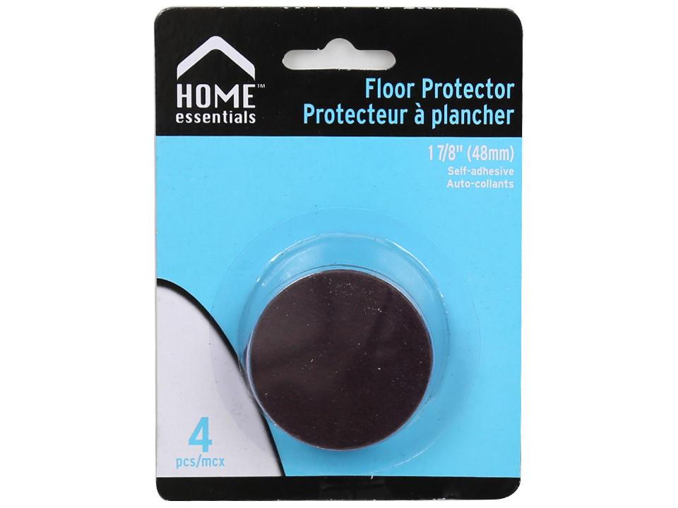 H.E., 4 pc. 1-7|8 Dia. Floor Protectors, b|c, black