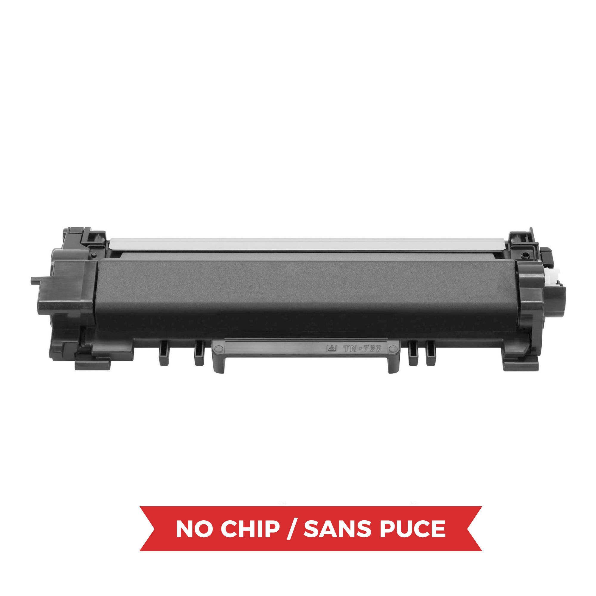 Brother TN760 Compatible Black Toner Cartridge High Yield - No Chip - Economical Box